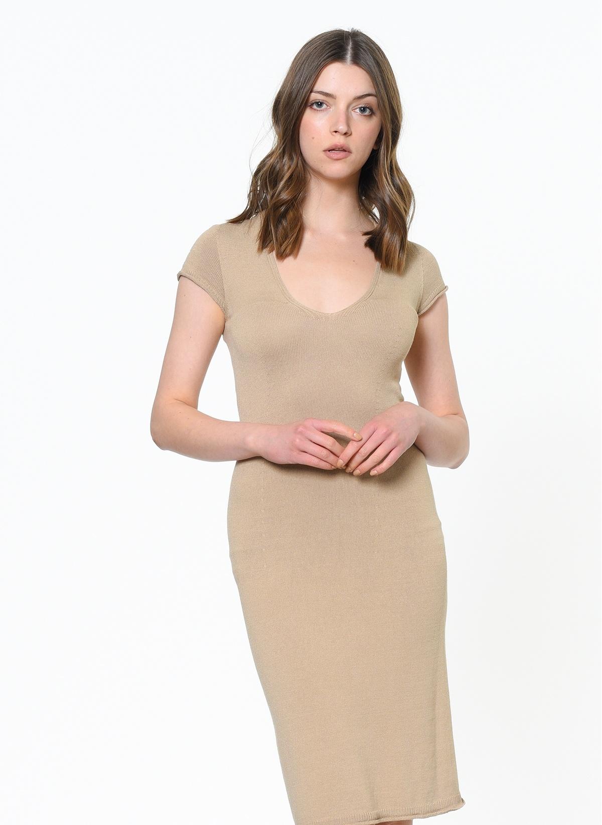 Kadın Stefanel Kısa Kollu Dar Elbise